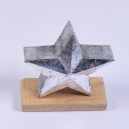 Metall-Stern Davos, silber, verschiedene Größen