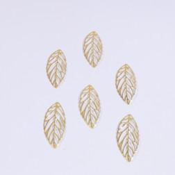 Metall-Blatt Rino, 8 cm, gold