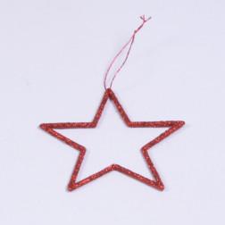Glitterstern Terri, rot, verschiedene Größen