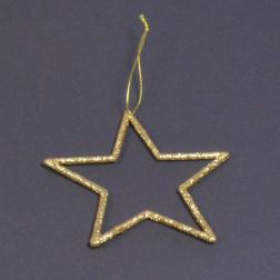 Glitterstern Terri, gold, verschiedene Größen