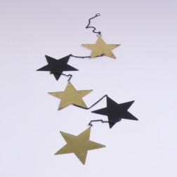 Sternh. Savino x 5, gold, verschiedene Größen