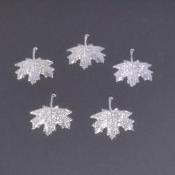 Metall-Ahornblatt 7 cm, silber