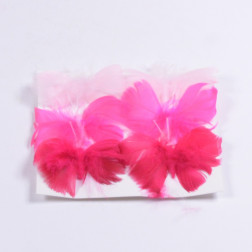 Federschmetterling 8 cm pink sort.