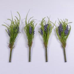 Hyazinthe mit Gras, 28 cm, verschiedene Farben