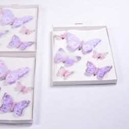 Schmetterling Clip sortiert lila