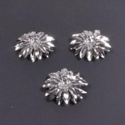 Gerberablüte Metall, 8.5 cm silber