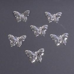 Schmetterling Metall 6.2 cm, silber