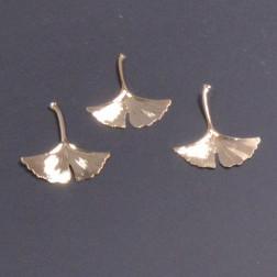Ginkgoblatt Metall Ingo, 7 cm, champ.