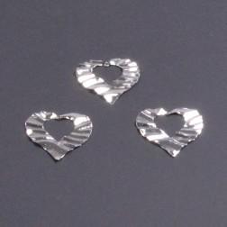 Metallherz ausgest. 5,5cm silber