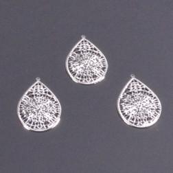Ornament Tropfen Metall silber 7cm