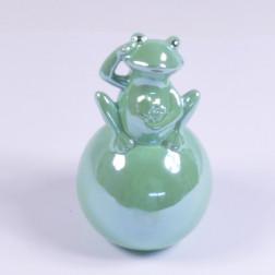 Keramik Frosch Luis, 17.5 cm, grün