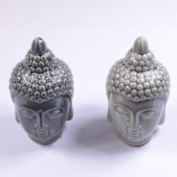 Buddha-Kopf, 20 cm. sort.