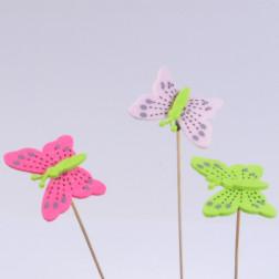 Schmetterling Miralla, 6 cm, sort.