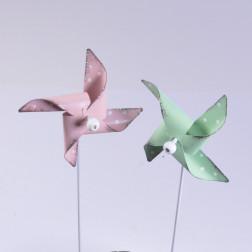 Metall-Windmuehle, 7 cm sort.