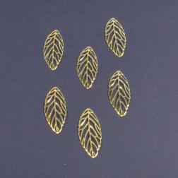 Metall-Blatt Rino, gold, 8 cm