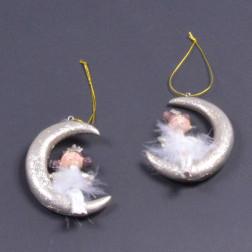 Mond Polly, 6 cm, gold