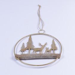 Ring Landschaft sort., 20 cm, gold