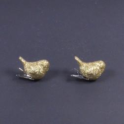 Vogel Goldi, 6 cm, mit Clip, gold
