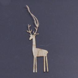 Metall-Hirsch-Haenger, gold, verschiedene Größen