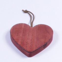Holzherz Borino, 10 cm, rosenholz