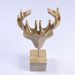 Holz-Rentierkopf Gino, 35 cm