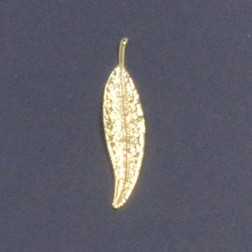 Metall-Blatt Sinus, 7 cm, gold