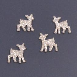 Glitterbambi, 5 cm, gold