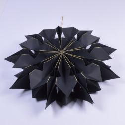 Papierornament, 40 cm, schwarz