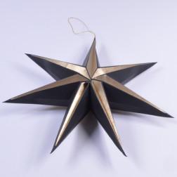 Stern Melios, 40 cm, gold/schwarz