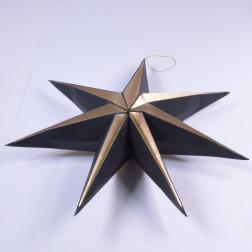 Stern Melios, 50 cm, gold/schwarz