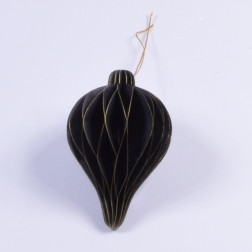 Papierornament, 12 cm, sort., schwarz