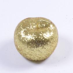 Apfel Glitter, gold, verschiedene Größen
